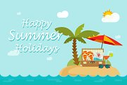 Summer Holidays Travel Backgrounds