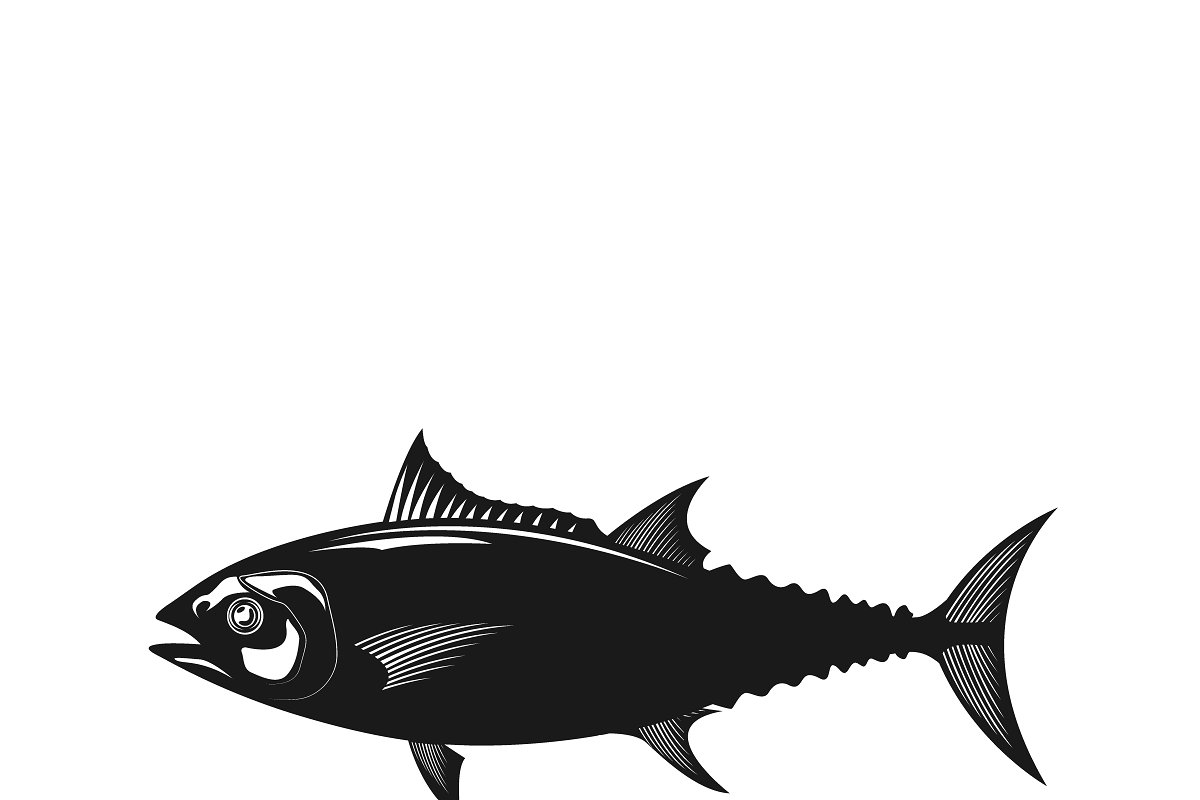 tuna, icon in Illustrations - product preview 8