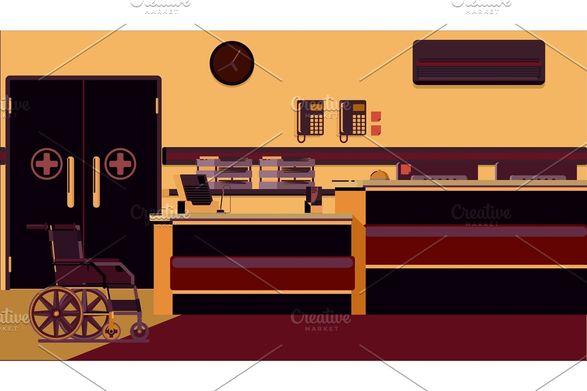 Hospital Reception Illustration in Illustrations - product preview 8