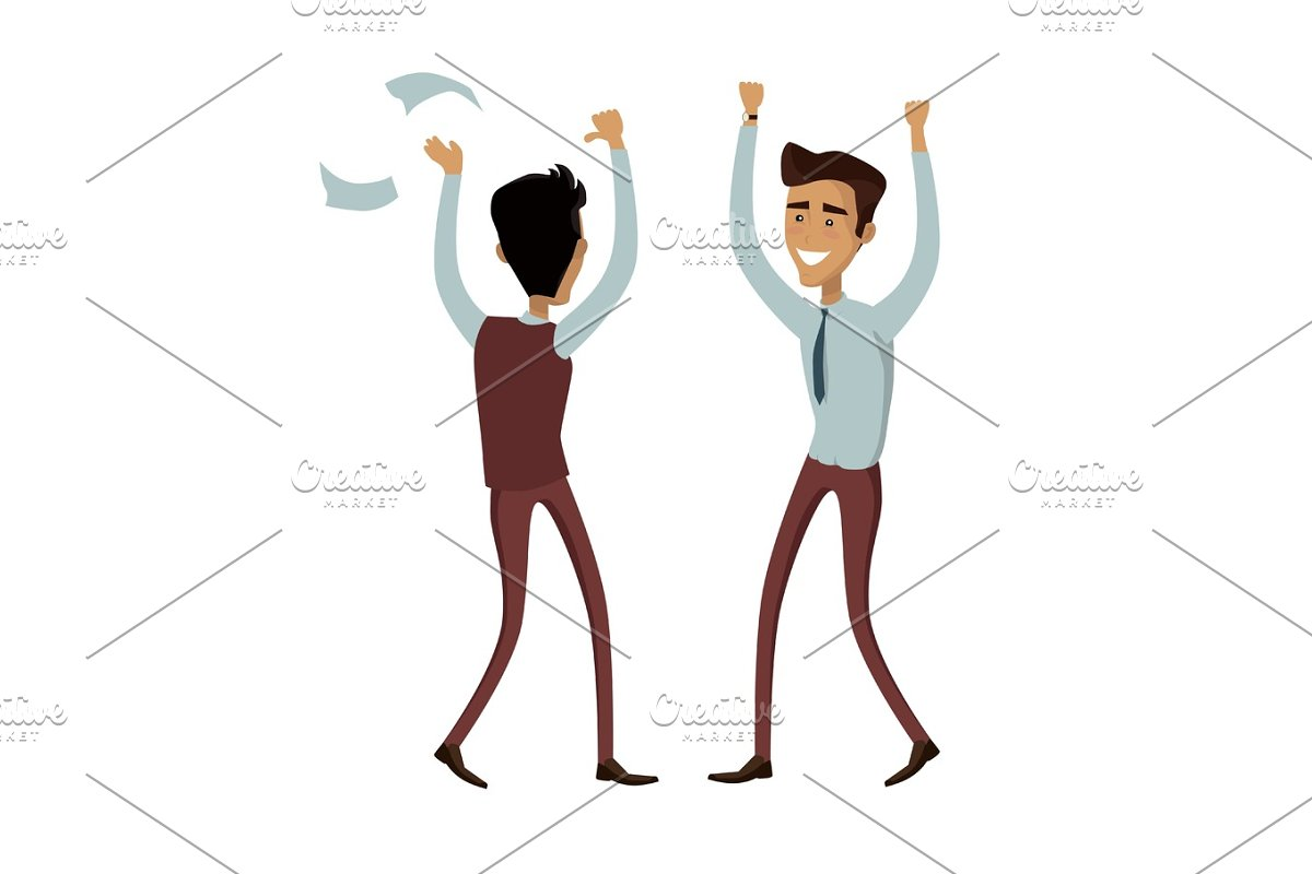 Business Team Work Success Concept Vector in Illustrations - product preview 8