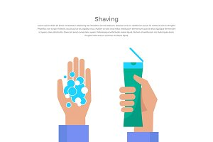 Shaving Concept Banner Vector Illustration.