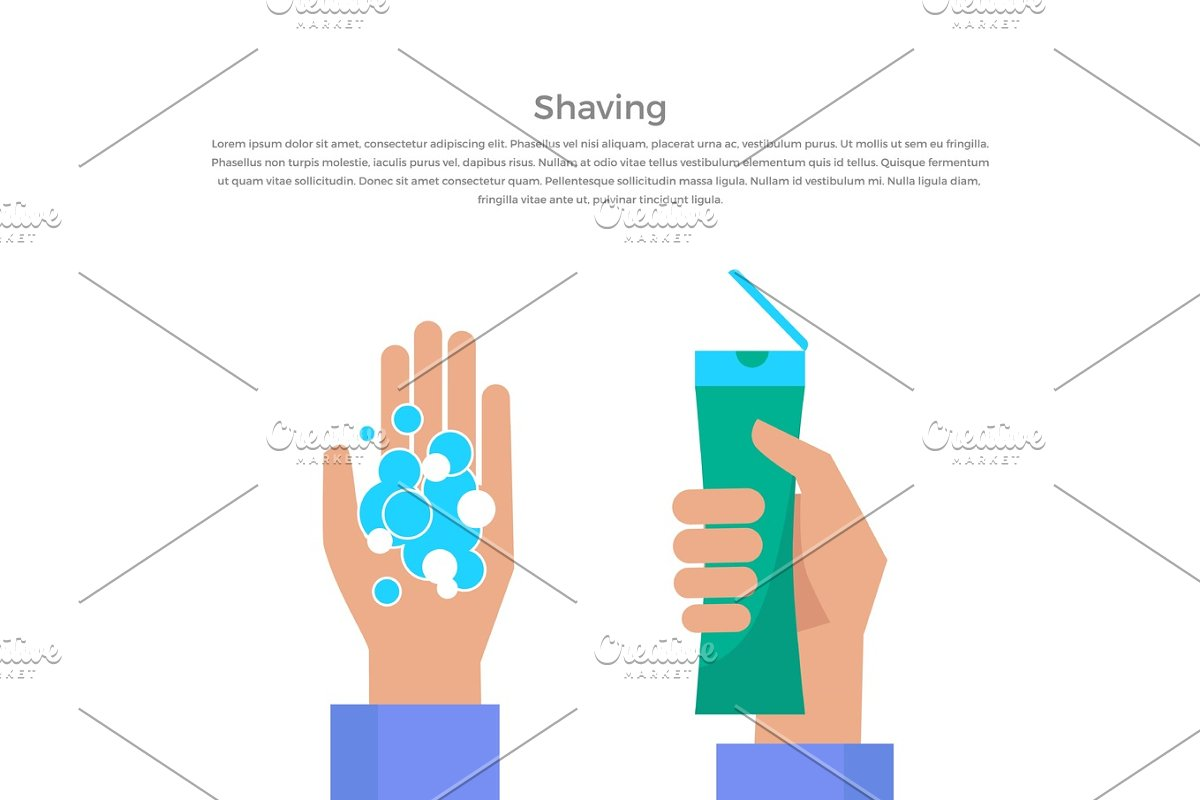 Shaving Concept Banner Vector Illustration. in Illustrations - product preview 8