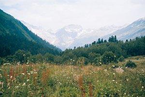 Mountain landscape panorama.
