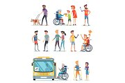 Disabled People and Help for Them White Poster