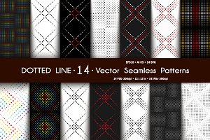 Set Dotted Line Seamless Patterns