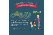 Fireworks Safety Infographic, Teaching Children
