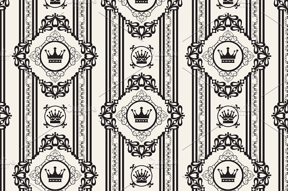 vintage pattern in Patterns - product preview 2