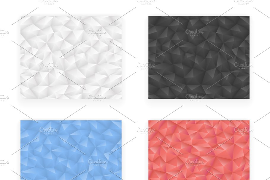 low Polygonal  in Illustrations - product preview 8