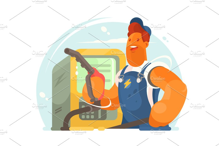 Refueller in working form in Illustrations - product preview 8
