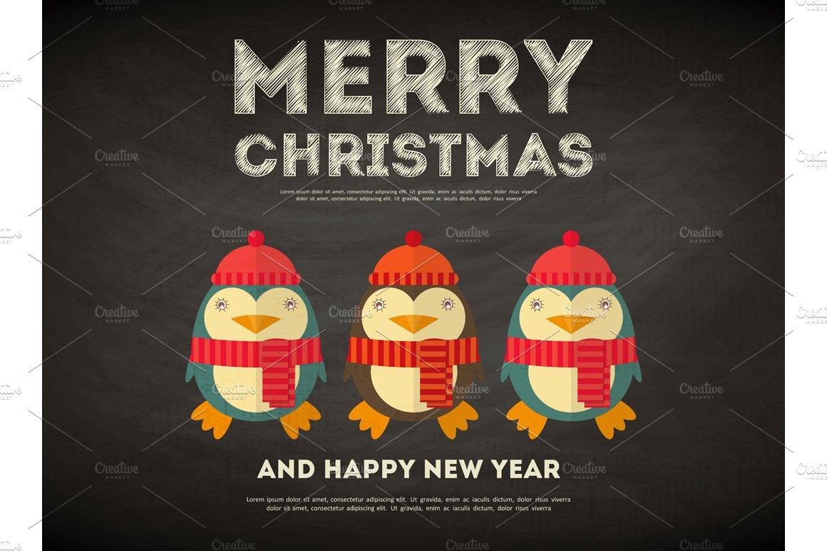 Merry Christmas Greeting Card ~ Illustrations ~ Creative Market