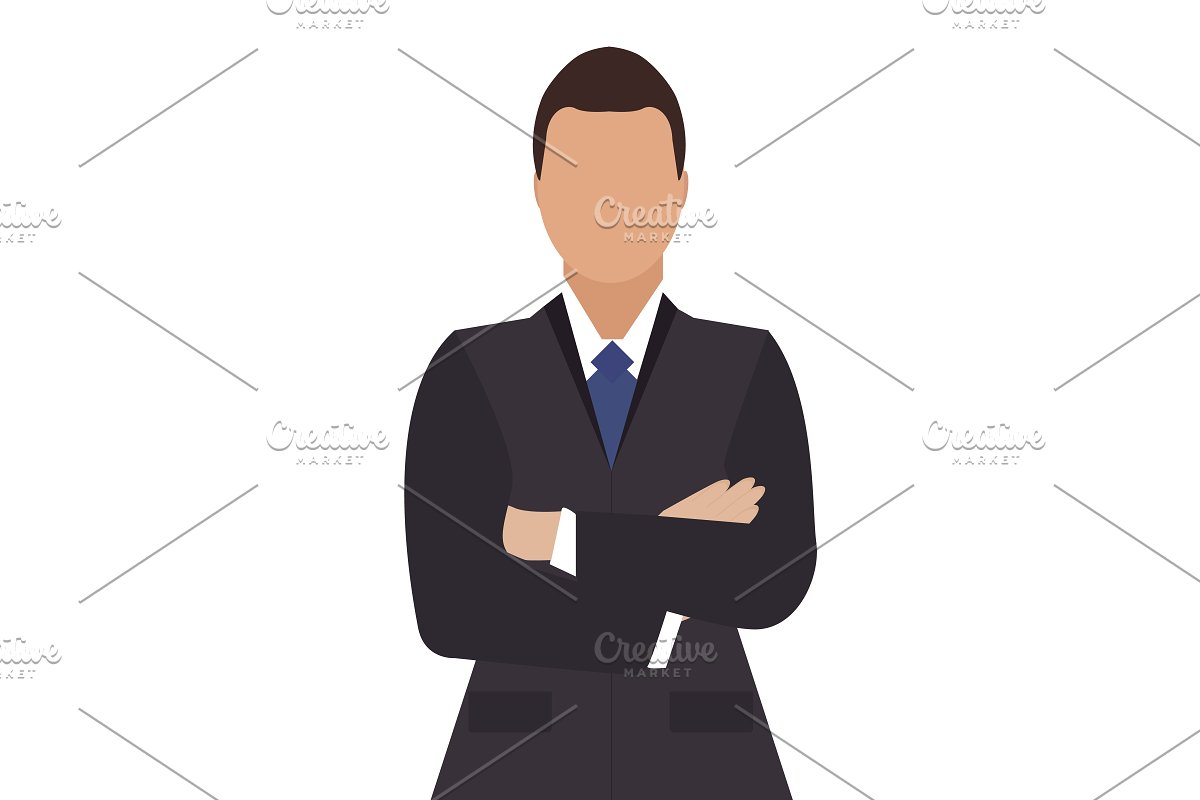 Business people. woman and man in Illustrations - product preview 8