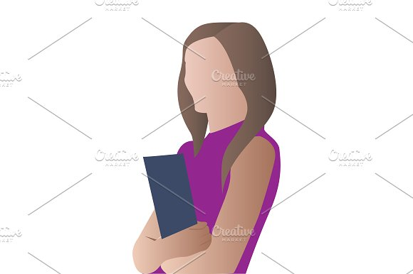 Business people. woman and man in Illustrations - product preview 1