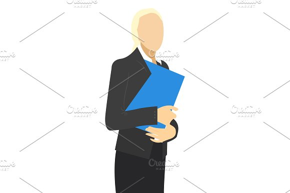 Business people. woman and man in Illustrations - product preview 2