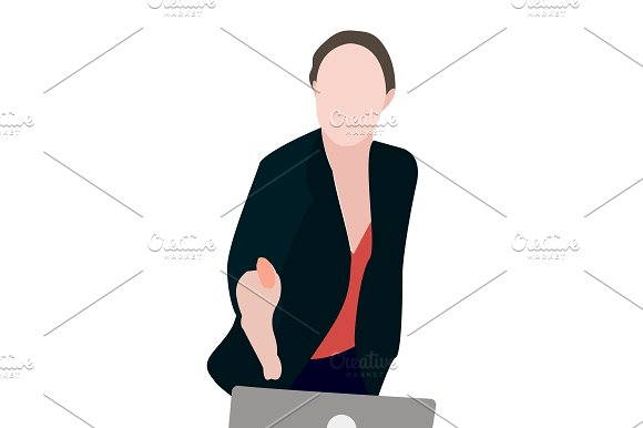 Business people. woman and man in Illustrations - product preview 3