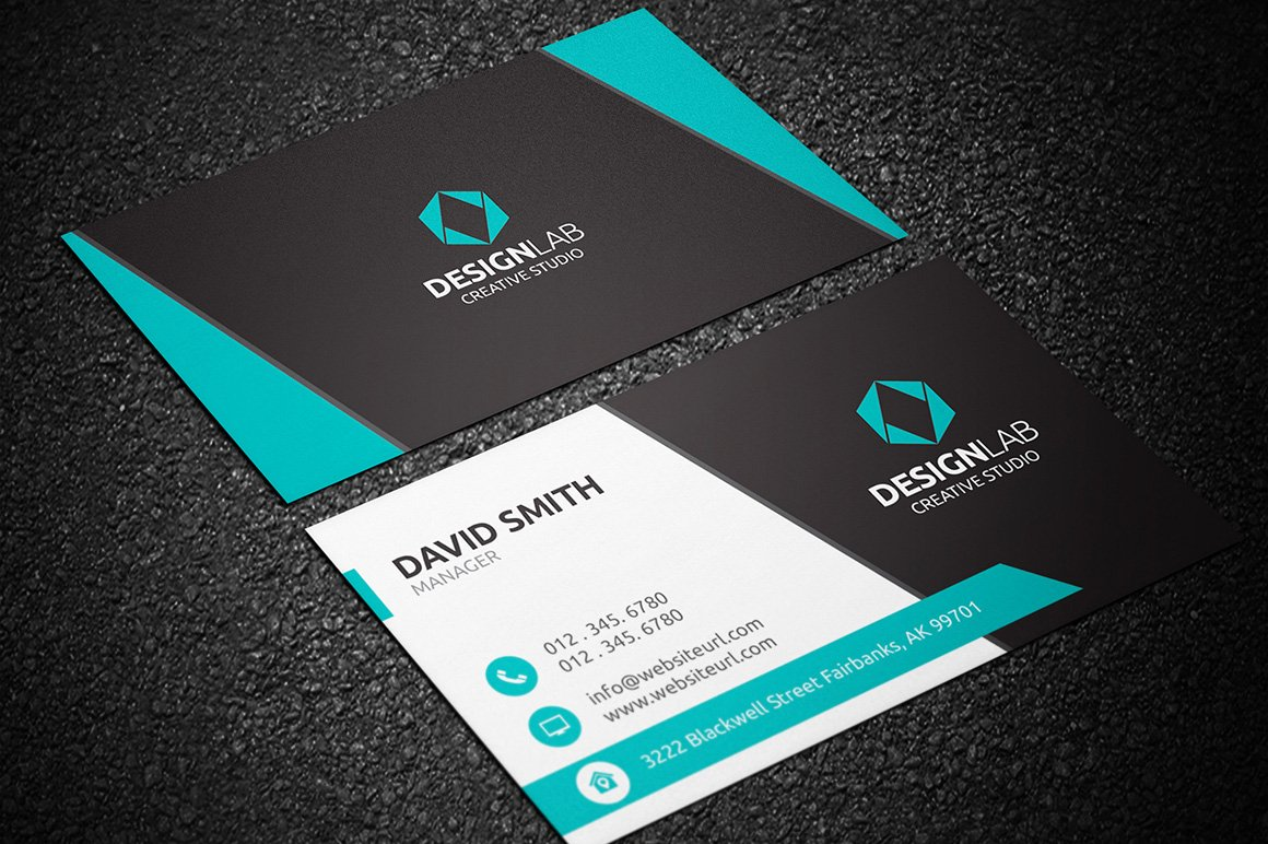 Modern business cards templates business card design for Free modern business card templates