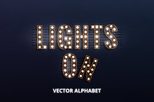 Lights On! Vector and PNG alphabet