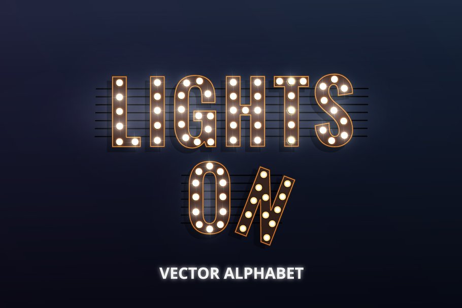 Lights On! Vector and PNG alphabet in Graphics - product preview 8