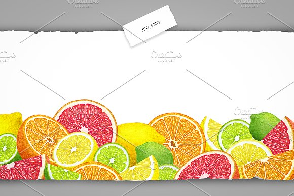 Citrus Collection in Illustrations - product preview 7