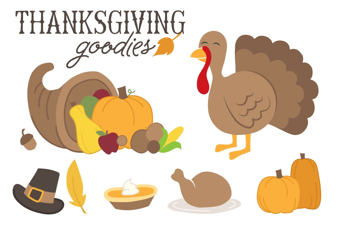 Thanksgiving Goodies ~ Illustrations ~ Creative Market