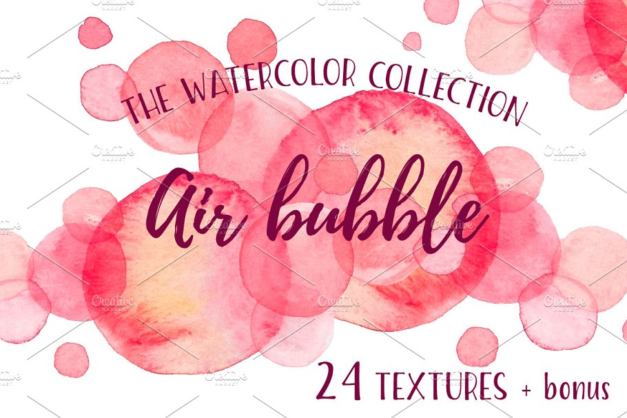 Air Bubble watercolor collection in Textures - product preview 8
