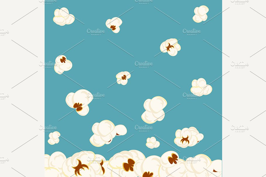 Vector background with popcorn in Objects - product preview 8