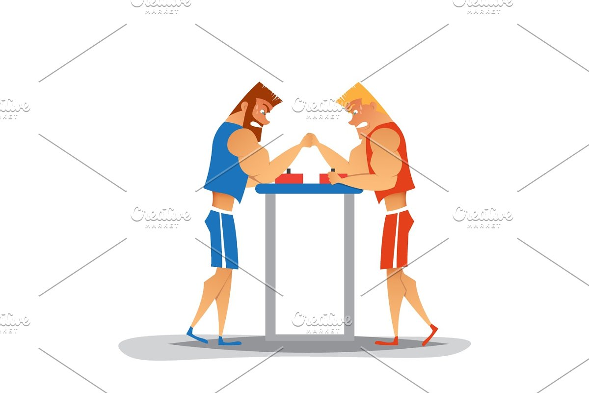 Arm wrestling competition. in Illustrations - product preview 8