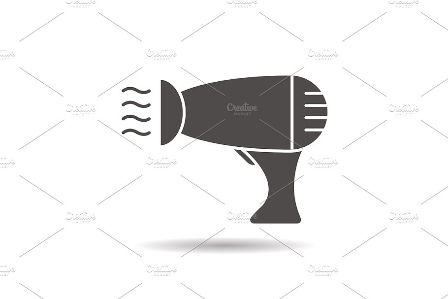 Hair dryer icon. Vector in Graphics - product preview 8