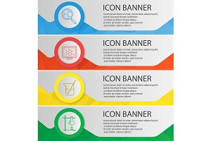 Chemical laboratory banners. Vector