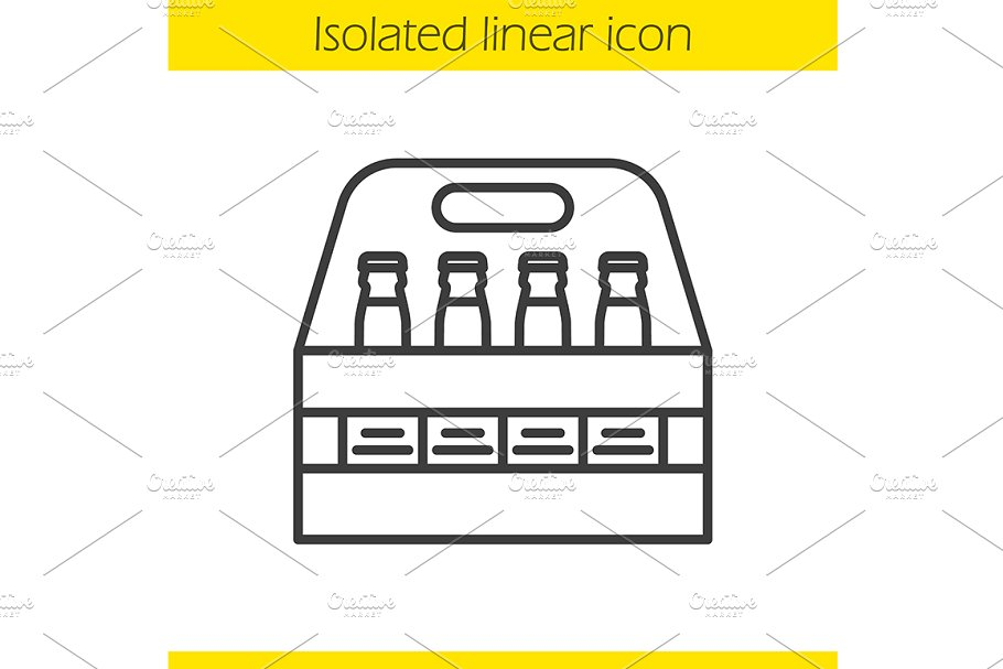 Beer bottles box icon. Vector in Graphics - product preview 8