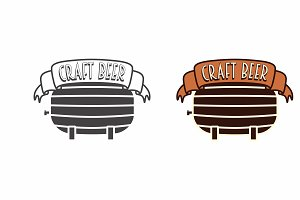 Logo template of craft beer