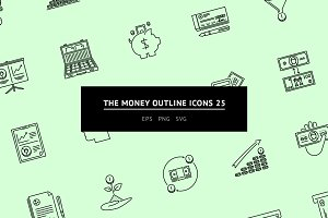 The Money Outline Icons 25