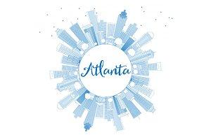 Outline Atlanta Skyline