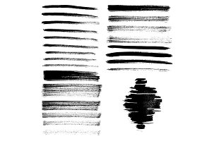 Set of different grunge brush