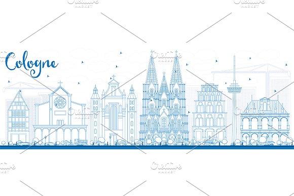Outline Cologne Skyline