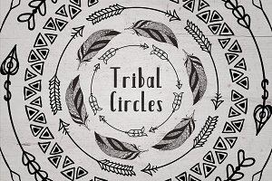 63 Tribal Circles. Logo & Badge