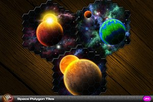 Deep Space Hexagonal Tile Set vol1