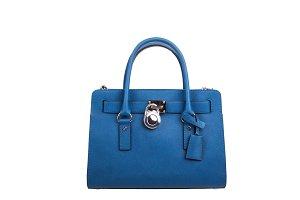 Blue leather Women's handbag