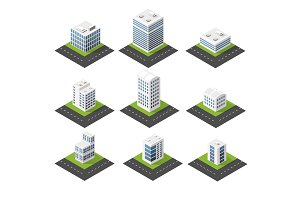 Urban isometric icons