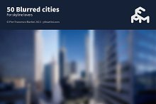 50 Blurred cities