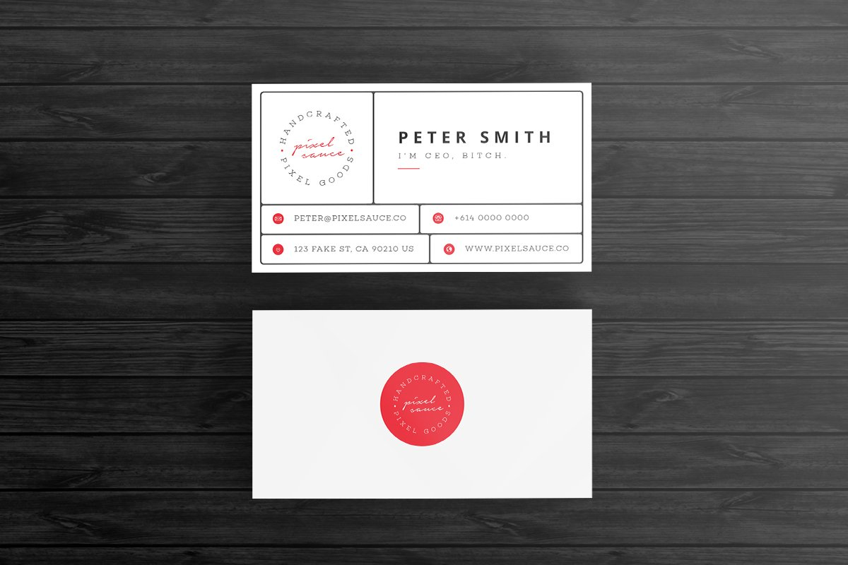 Retro business card template business card templates creative market wajeb