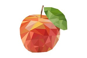 Polygonal fruit. Vector illustration