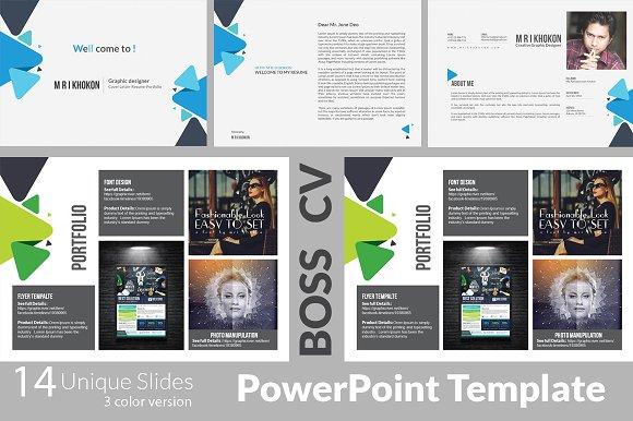 boss cv 2 powerpoint templates presentation templates creative