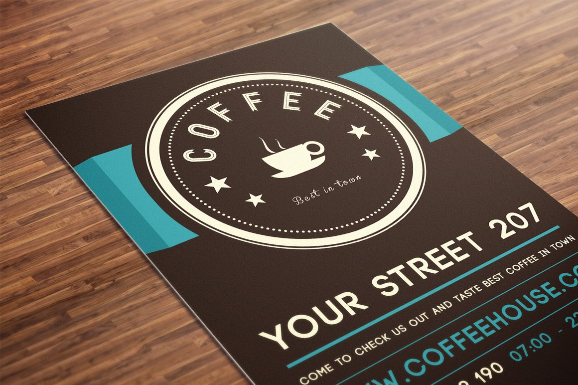 coffee house flyer psd template flyer templates creative market. Black Bedroom Furniture Sets. Home Design Ideas