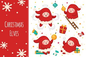 Christmas Elves, set 03