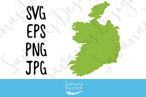Ireland Map SVG, EPS, JPG, & PNG