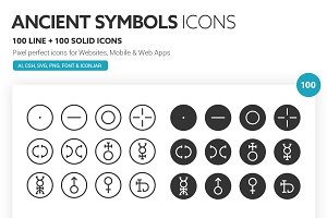 Ancient Symbols Icons