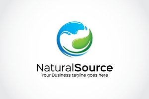 Natural Source Logo Template