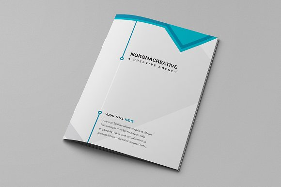 Bi fold brochure brochure templates creative market for Bi fold brochure template indesign free