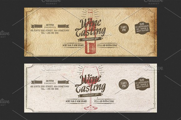 Wine tasting flyer template flyer templates creative market yelopaper Image collections