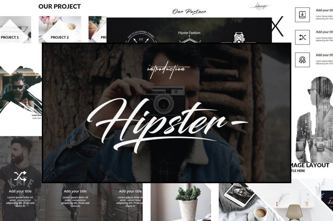 hipster v 2 powerpoint template presentation templates creative
